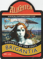 ALLGATES BREWERY  (WIGAN, ENGLAND) - BRIGANTIA GODDESS OF THE CELTS - PUMP CLIP FRONT - Letreros