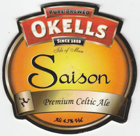 OKELL'S BREWERY  (DOUGLAS, ISLE OF MAN) - SAISON PREMIUM CELTIC ALE - PUMP CLIP FRONT - Letreros
