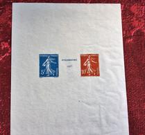 FAUX-FALSO-FAKE--☛Yvert/Tellier-Catégorie:Bloc & Feuillet-N°BF2-Curiosité-Exposition Philatélique De Strasbourg-1937 - Curiosities: 1931-40 Mint/hinged