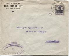 1276PR/ TP Oc 16 S/L. SA Des Charrues De Gembloux Càp Gembloux Censure Brüssel > Remington BXL - [OC1/25] General Gov.