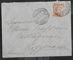 STORIA POSTALE REGNO - BUSTA CON CONTENUTO  DA MONTAGNANA 12.5.1917 PER MOZZECANE - Marcofilía