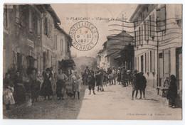 SAINT PLANCARD (31) DANS LE COMMINGES EN NEBOUZAN  : L' ARRIVEE DU COURRIER - BOUCHERIE - ECRITE EN 1921 - 2 SCANS - - Other Municipalities