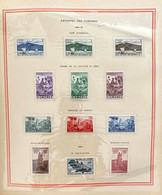AFR177 2 Feuilles Album Soubayran Comores Années 1950-1954 Neuf* Côte 88€ - Unused Stamps