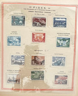 AFR178 2 Feuilles Album Soubayran AEF FIDES 1956  Neuf* Série Complète - Unused Stamps