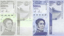 VENEZUELA Set 200000 500000 Bolivares 3 Sept, 2020 P NEW UNC (2 Banknotes) - Venezuela