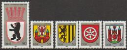 DDR 1983 Mi-Nr. 2817 - 2821 ** Postfrisch Stadtwappen ( A3314 ) Günstige Versandkosten - Ongebruikt