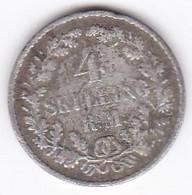 Danemark 4 Skilling Rigsmont 1854 - Frederik VII, En Argent , KM# 758 - Dänemark