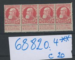 4 X 74. **.  10c **   Cote 20 €. Postfris - 1905 Thick Beard