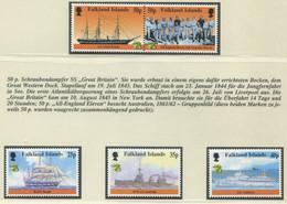 FALKLANDINSELN / MiNr. 741 - 745 / Geschichte Der Seefahrt / Postfrisch / ** / MNH - Boten