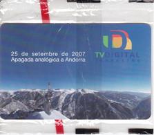AND-158 TARJETA DE ANDORRA TV. DIGITAL DEL 2/08 TIRADA 15000 (NUEVA-MINT) - Andorra