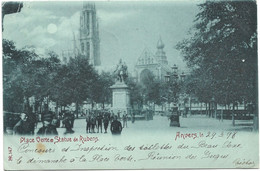 Anvers - Place Verte Et Statue Rubens (1898) - Antwerpen