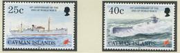 KAIMAN-INSELN / MiNr. 739 Und 740 / 50. Jahrestag Der Beendigung Des Zweiten Weltkrieges / Postfrisch / ** / MNH - Bateaux