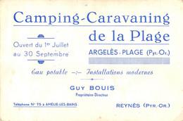 Argelès-Plage (Pyr.-Or.) - Camping-Caravaning De La Plage - Pubblicitari