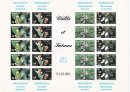 Wallis Y Futuna Nº 286sd Al 289sd En Hoja De 5 Series SIN DENTAR - Unused Stamps