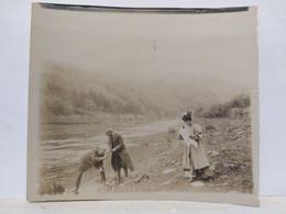 Luxembourg. Bords De L'Alzette. Probablement Hesperange Ou Environs. 1907. 9x8 Cm - Lieux