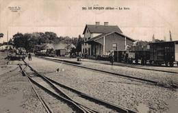 03 LE DONJON  CPA      La Gare - Otros Municipios