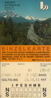 Ticket De Péage Autoroute En Italie Et Autriche - Andere