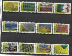 2021 FRANCE Adhesif 1942-53 Oblitérés, Paysages, Série Complète - Adhesive Stamps