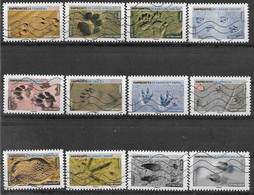 2021 FRANCE Adhesif 1956-67 Oblitérés, Empreintes, Série Complète - Adhesive Stamps