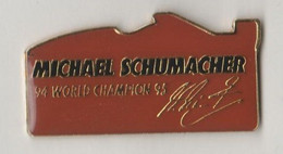 Pin's  M.SCHUMACHER World Champion 95. - F1