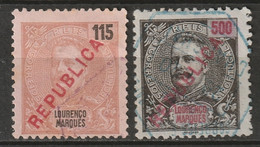 Lourenco Marques 1916 Sc 150,154  Used Local Overprint - Lourenco Marques