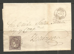 SPAIN. 50m COVER. ALFARO LOGRNO TO ZARAGOZA - Briefe U. Dokumente