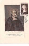 FRANCE .CARTE MAXIMUM. N°207914. 1951. Cachet Reims. St Jean Baptiste De La Salle - 1950-59