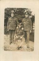 CARTE PHOTO SOLDATS - Guerra 1914-18