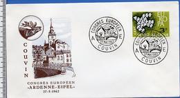 Be0037 Congrès Européen Couvin 1962 - 1962