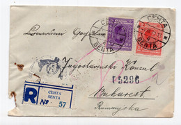 1930. YUGOSLAVIA,SERBIA,SENTA TO BUCHAREST,ROMANIA,REGISTERED COVER - Storia Postale