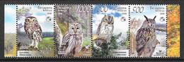 Belarus 2008 MiNr. 750 - 753 Weißrußland Owls II BIRDS 4v MNH** 3,00 € - Wit-Rusland