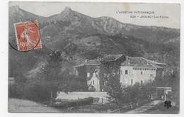JAUJAC EN 1910 - N° 323 - LES ECOLES - BEAU CACHET - CPA VOYAGEE - Otros Municipios