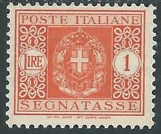 1934 REGNO SEGNATASSE 1 LIRA MH * - RE20-9 - Segnatasse