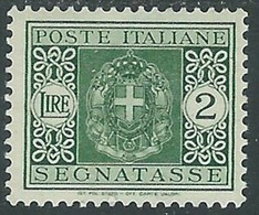 1934 REGNO SEGNATASSE 2 LIRE MH * - RE20-9 - Segnatasse