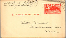 11114 - USA - Ganzsache , Hollywood California - Mexico  - Gelaufen 1951 - 1941-60