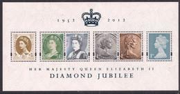 GB 2012 QE2 Diamond Jubilee Mini Sheet Umm SG MS 3272 ( D378 ) - Ungebraucht