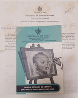 O) 1955 CUBA, TUBERCULOSIS,CHILD, THE TAX WAS TO HELP BUILD A NEW COMMUNICATIONS BUILDING, FDB - Other