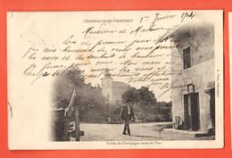 ZOQ-10 Entrée De Champagne-en-Valromey Le Bugey  Route De Vieu. ANIME. Dos Simple, Circulé Vers La Suisse En 1904 - Otros Municipios