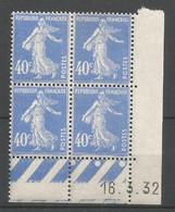 Coins Daté France Neuf *  N 237  Année 1932  Charniére En Haut - ....-1929