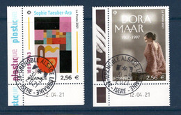 France 2021.Issu De La Mini Planche Sophie Taeuber-Arp & Dora Maar . Cachet Rond Gomme D'origine. - Used Stamps