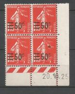 Coins Daté France Neuf *  N 225  Année 1925  Charniére En Haut - ....-1929