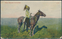 """""""Brave Mounted"""" For The Race / Native American On Horse - Posted 1910, Creston, South Dakota - Indiani Dell'America Del Nord"""