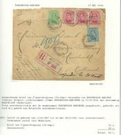 137+138+141 Op Brief Aangetekend ROUSBRUGGE-HARINGHE 27/5/18 ,Frans Aantekenstrookje (noodstrookje)RARE (GR1562) - Niet-bezet Gebied