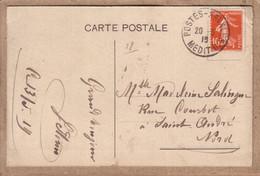 """GRECE , NORD - CARTE DE SALONIQUE , CAD """" POSTES NAVALES MEDIT. D. """" POUR SAINT ANDRE LEZ LILLE - 1915 OU 1919 - Scheepspost"""