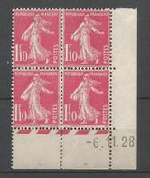 Coins Daté France Neuf *  N 238 Année 1928  Charniére En Haut - ....-1929
