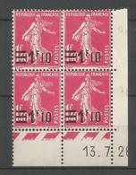 Coins Daté France Neuf *  N 228 Année 1926  Charniére En Haut - ....-1929