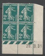 Coins Daté France Neuf *  N 239 Année 1931  Charniére En Haut - ....-1929