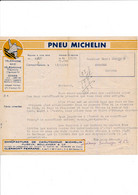Feuille Illustrée PNEU MICHELIN à CLERMONT FERRAND 63 ( Envoyée à AMBARES 33 ) - 1900 – 1949
