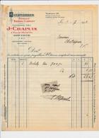 Facture Concessionnaire Automobiles Renault Bayard Clément J. CHAPUIS Place De L'hôtel De Ville à SAINT ETIENNE 42 Loire - 1900 – 1949