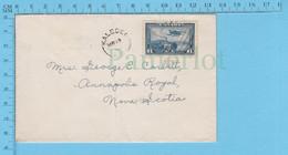 C6 Monoplane Canada 1938 - Cover Kaleden B.C -> Nova Scotia, - Storia Postale